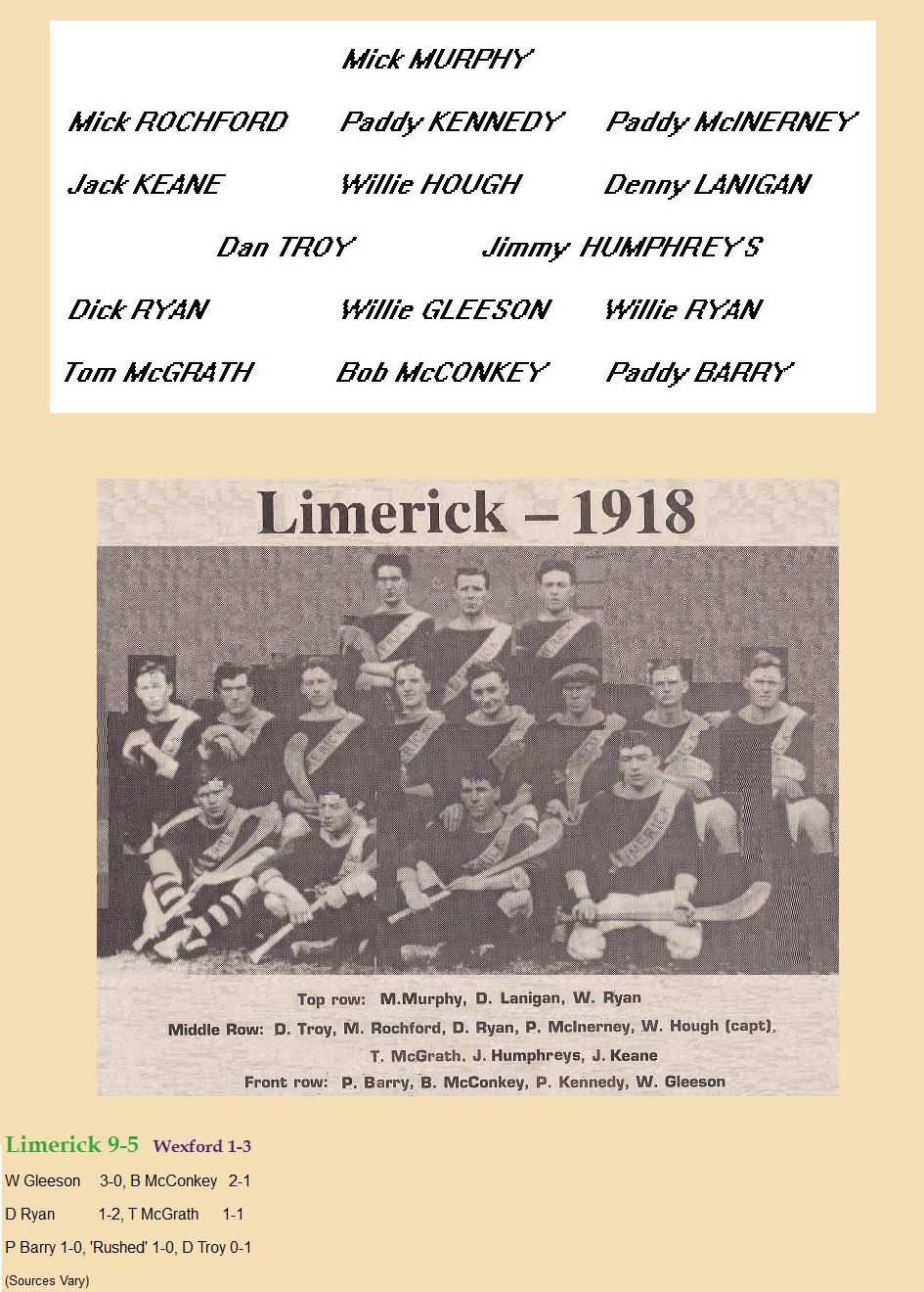 limk 1918 one